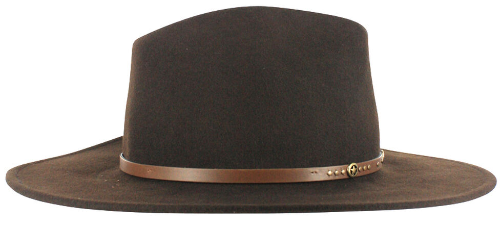 Cody James Men's Felt Hat Brown, Brown, hi-res