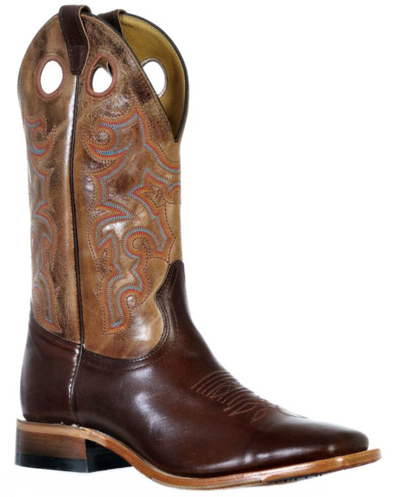 Boulet Men's Ranch Hand Western Boots - Wide Square Toe, Tan, hi-res