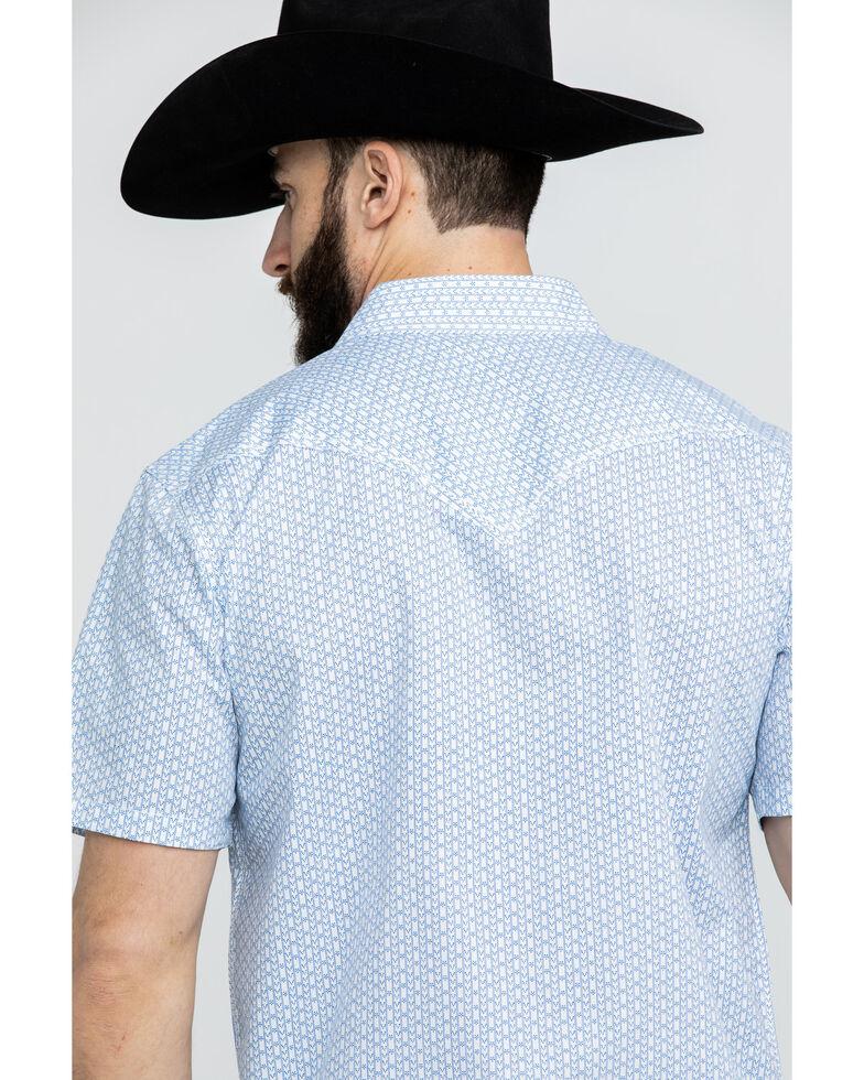 Cody James Men's Arrow Dot Geo Print Short Sleeve Western Shirt , Cream, hi-res