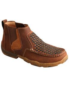 Twisted X Men's Basket Weave Chelsea Boots - Moc Toe, Brown, hi-res