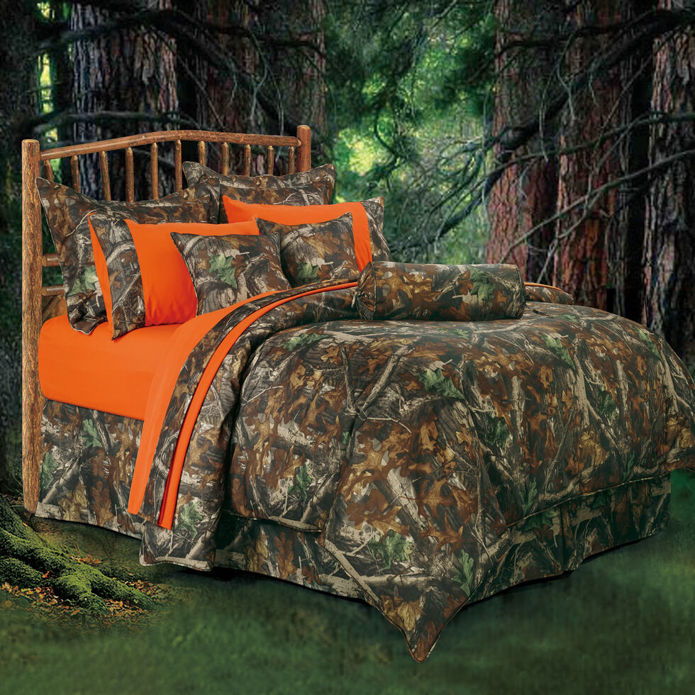 HiEnd Accents Realtree Camo Queen Size Comforter Set, Multi, hi-res