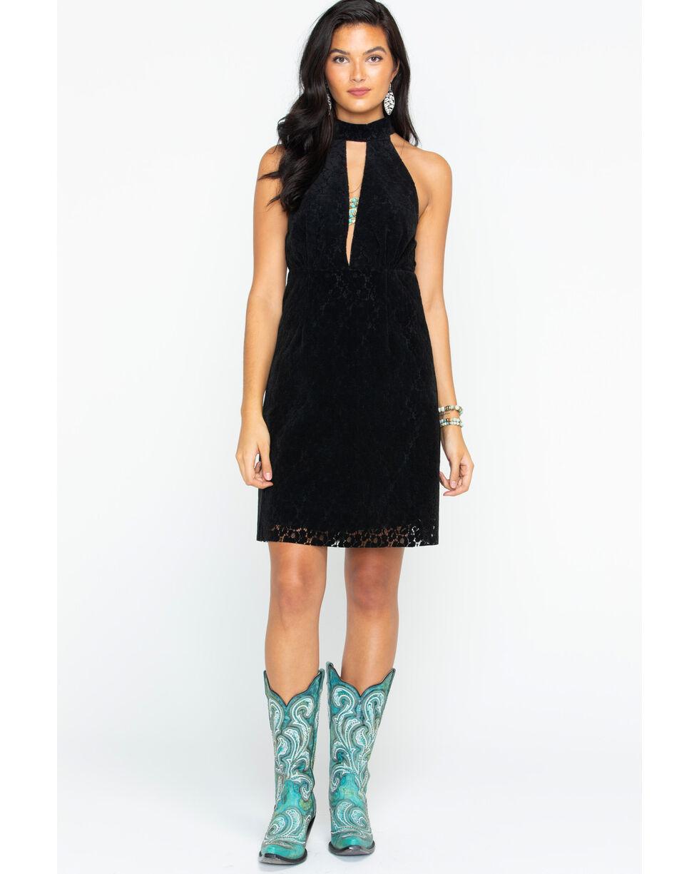 Angel Premium Women's Cyndi Lace Dress, Black, hi-res
