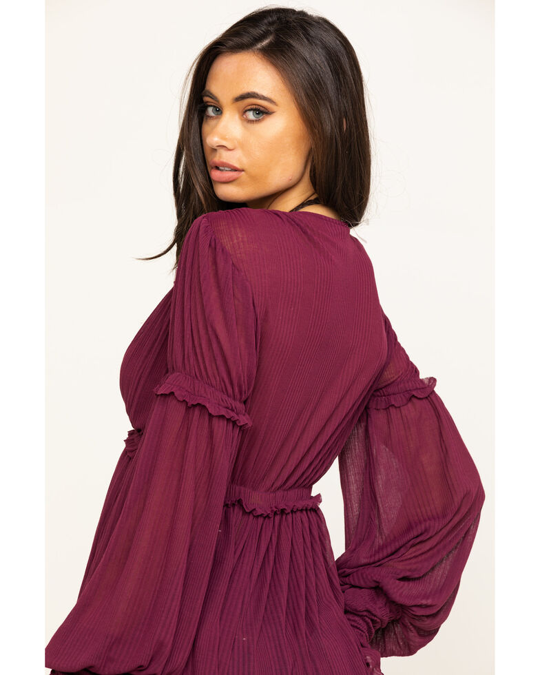 Free People Women's Day Dreaming Top, Purple, hi-res