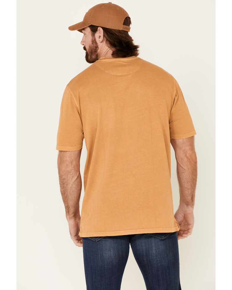 Pendleton Men's Mustard Deschutes Pocket Short Sleeve T-Shirt , Yellow, hi-res