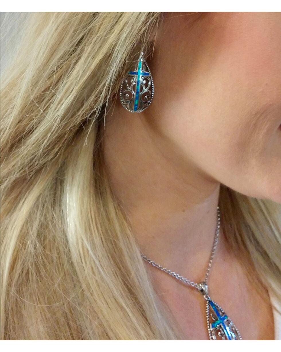 Montana Silversmiths Women's Filigree Water Lights Cross Jewelry Set, No Color, hi-res