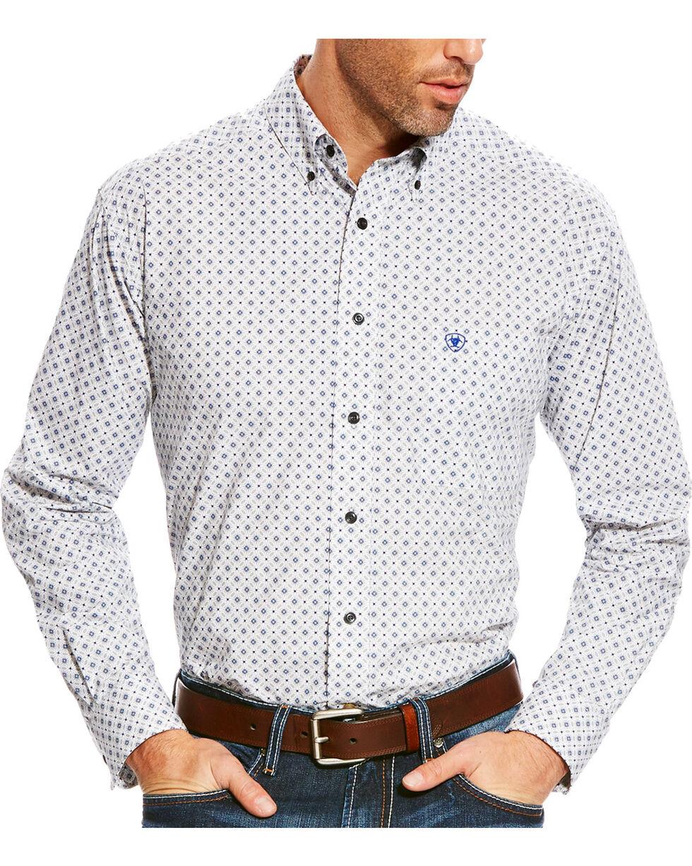 Ariat Men's Grey Burton Printed Western Shirt - Big & Tall, Multi, hi-res