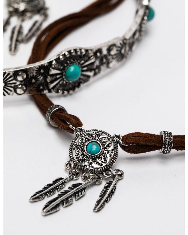 Shyanne Women's Summer Escape 3-Piece Dreamcatcher Choker Jewelry Set, Silver, hi-res