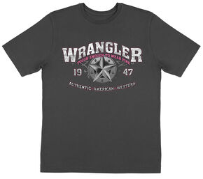 Wrangler Men's Black Tough Enough to Wear Pink Tee , Black, hi-res