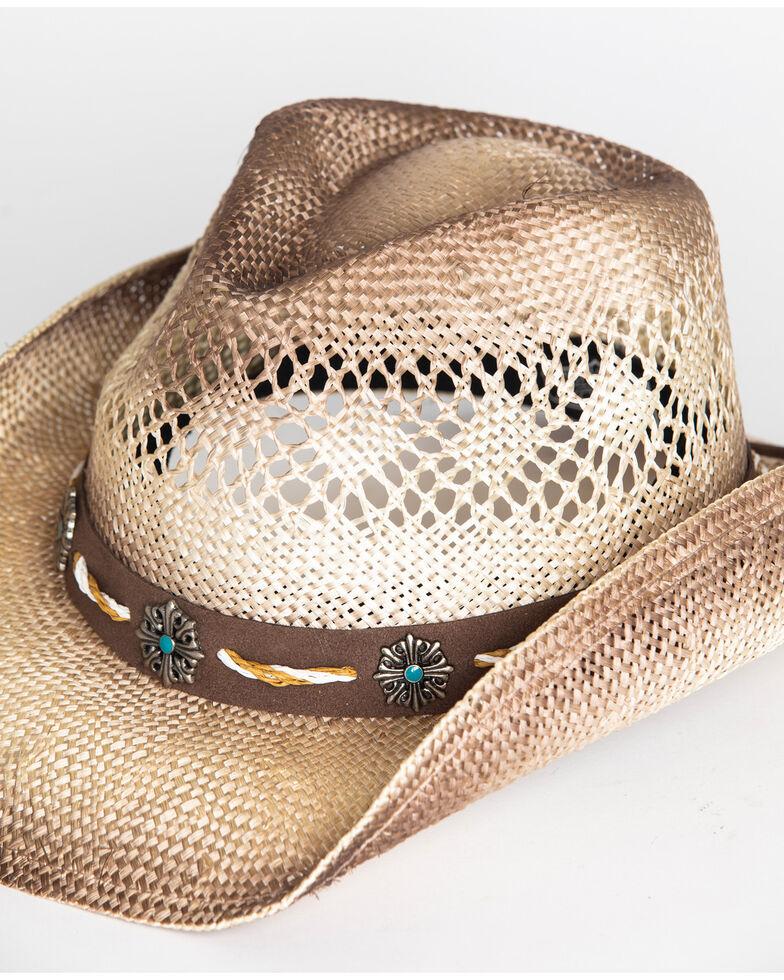 Cody James Men's Shaggy Straw Cowboy Hat , Brown, hi-res
