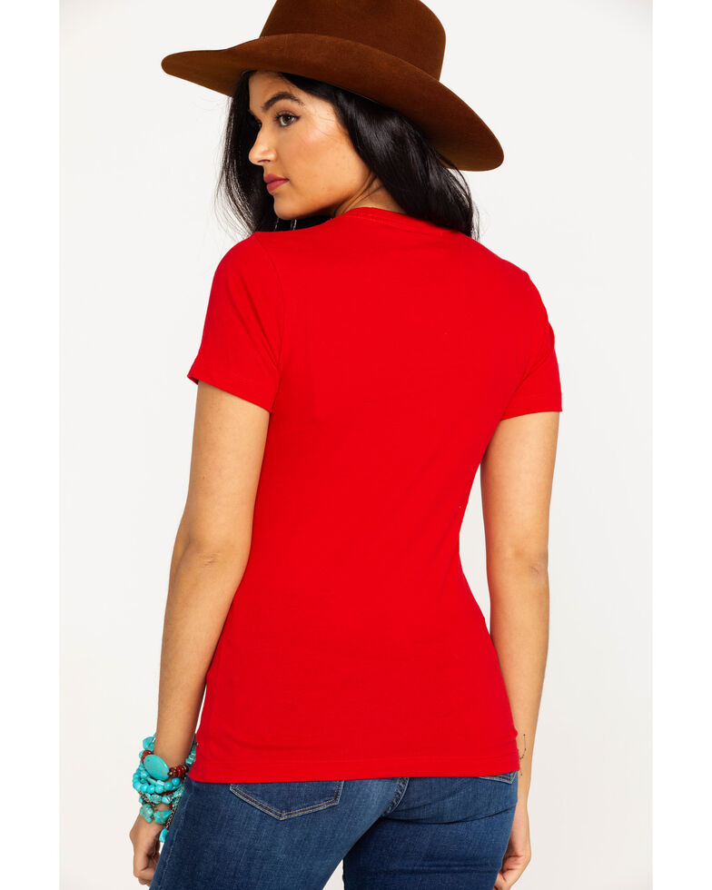 Wrangler Women's Slow Your Roll Graphic Tee , Red, hi-res