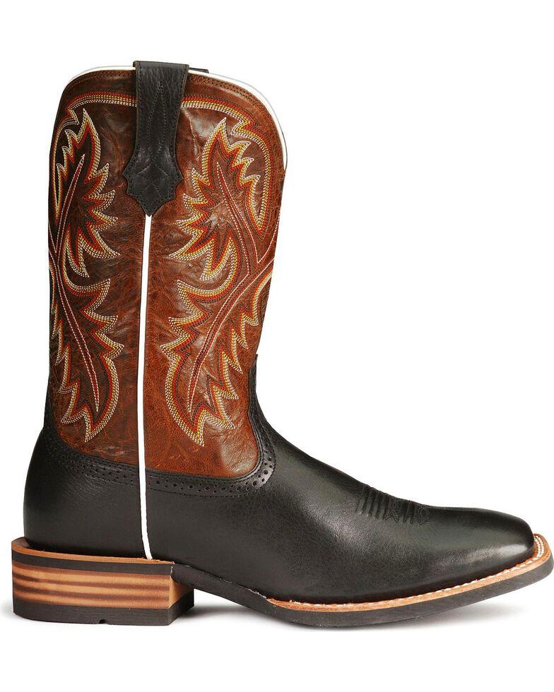 "Ariat Men's Quickdraw 11"" Western Boots - Square Toe, Black, hi-res"