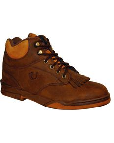 Women's Roper Lace-Up Kiltie HorseShoes, Brown, hi-res