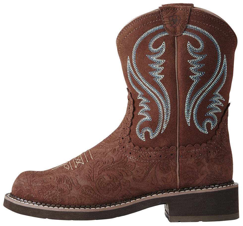 Ariat Fatbaby Brown Heritage Cowgirl Boots - Round Toe, Brown, hi-res