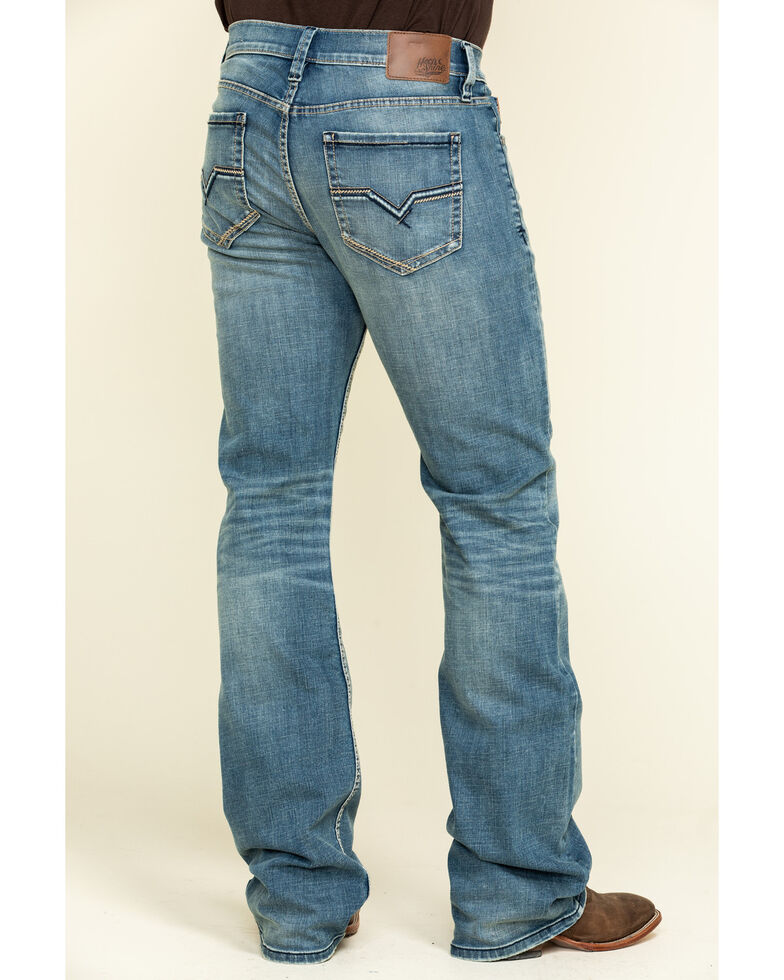 Moonshine Spirit Men's Pardner Stretch Slim Boot Jeans , Blue, hi-res