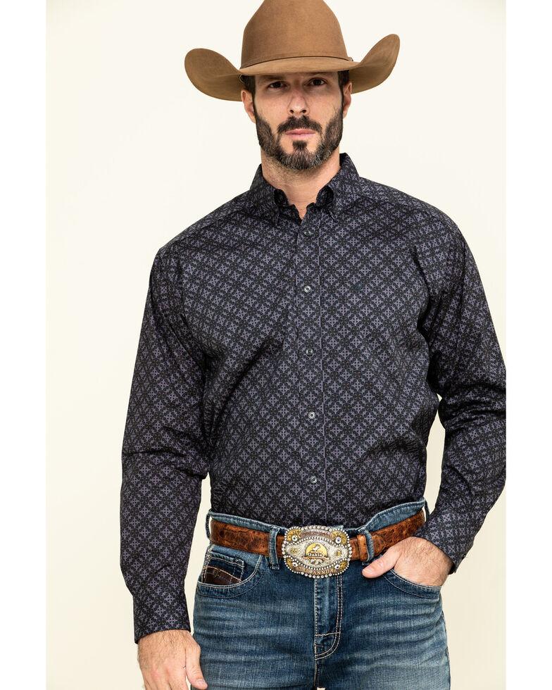 Ariat Men's Fanton Stretch Geo Print Long Sleeve Western Shirt - Big , Multi, hi-res