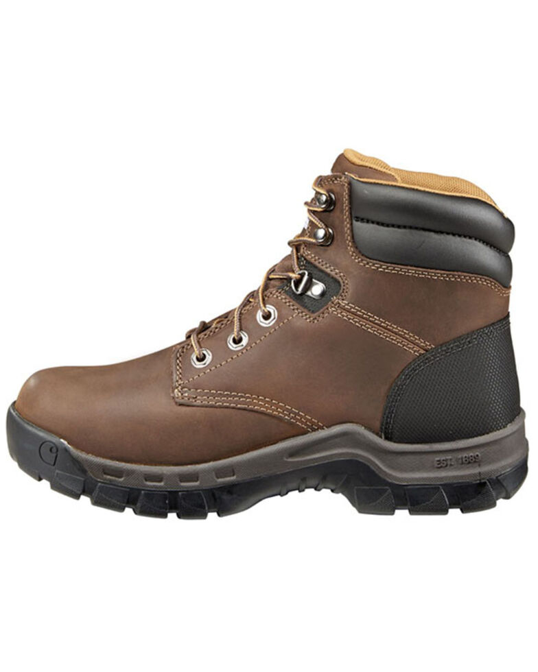 """Carhartt Men's Rugged Flex 6"""" Lace-Up EH Work Boots - Round Toe, Brown, hi-res"""