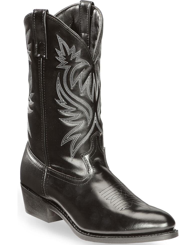 Laredo Men's Basic Cowboy Boots, Black, hi-res