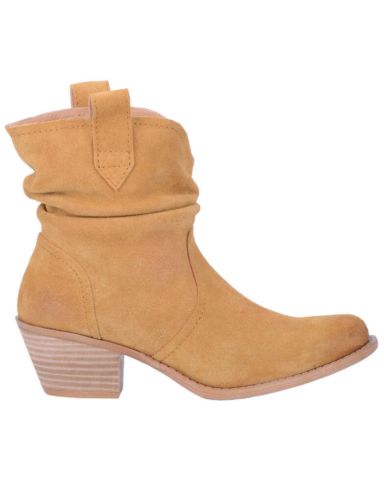 Dingo Women's Yellow Jackpot Western Booties - Round Toe, Dark Yellow, hi-res