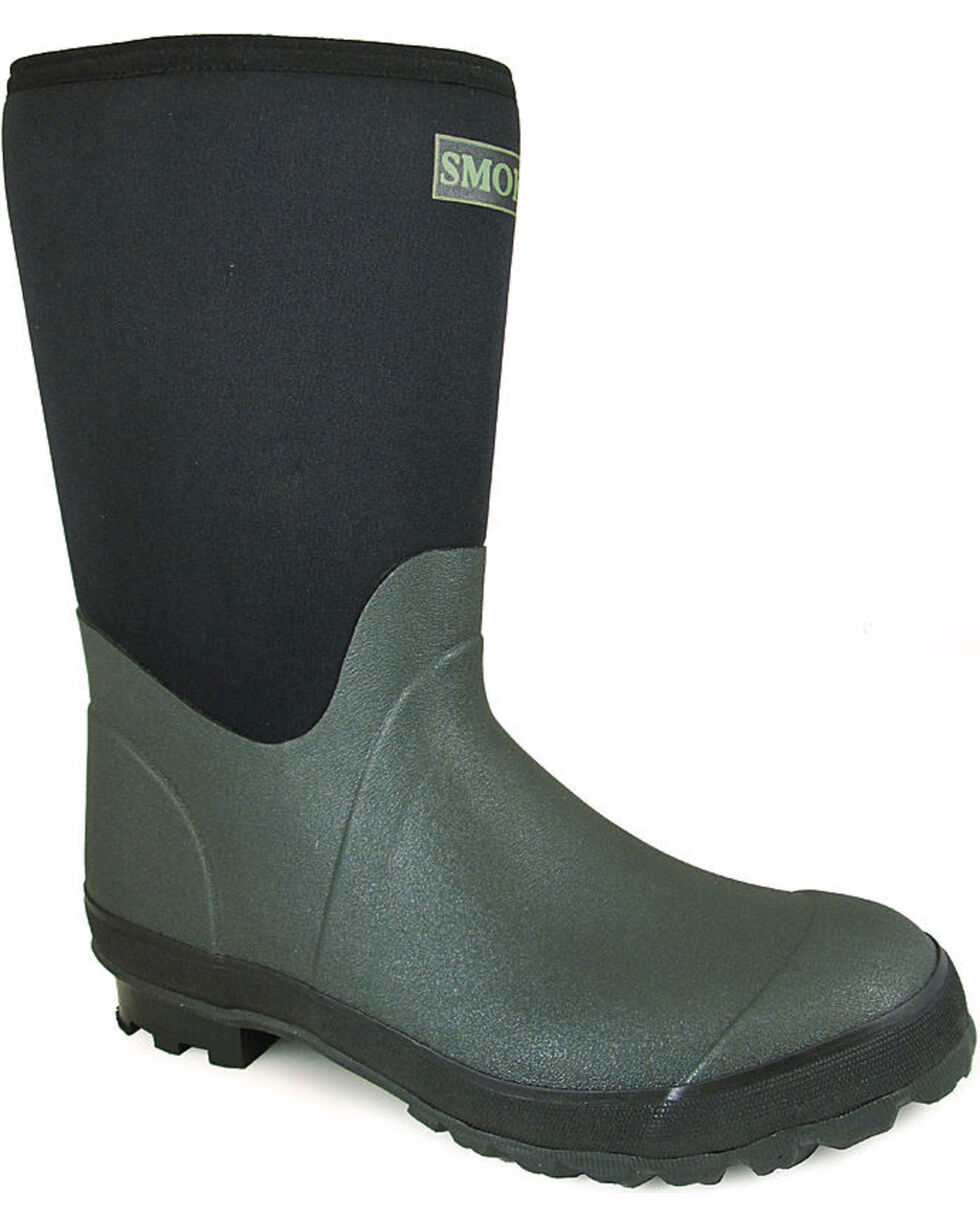 Smoky Mountain Men's Dark Amphibian Boots - Round Toe , Green, hi-res