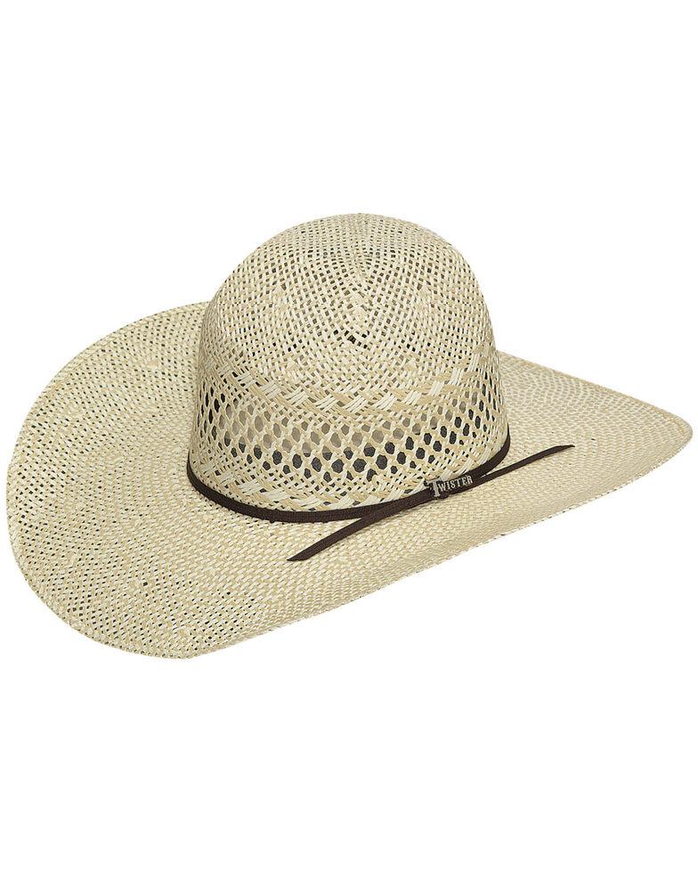 Twister Men's Twisted Weave Straw Cowboy Hat, Natural, hi-res