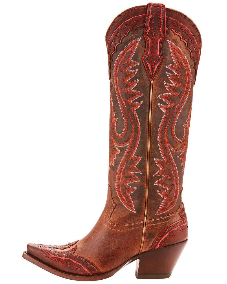 87e5f76f Zoomed Image Ariat Women's Adelina Tall Cowgirl Boots - Snip Toe, Brown,  hi-res