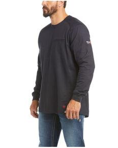 Ariat Men's FR Black Air Rig Life Graphic Long Sleeve Work Shirt - Big , Black, hi-res