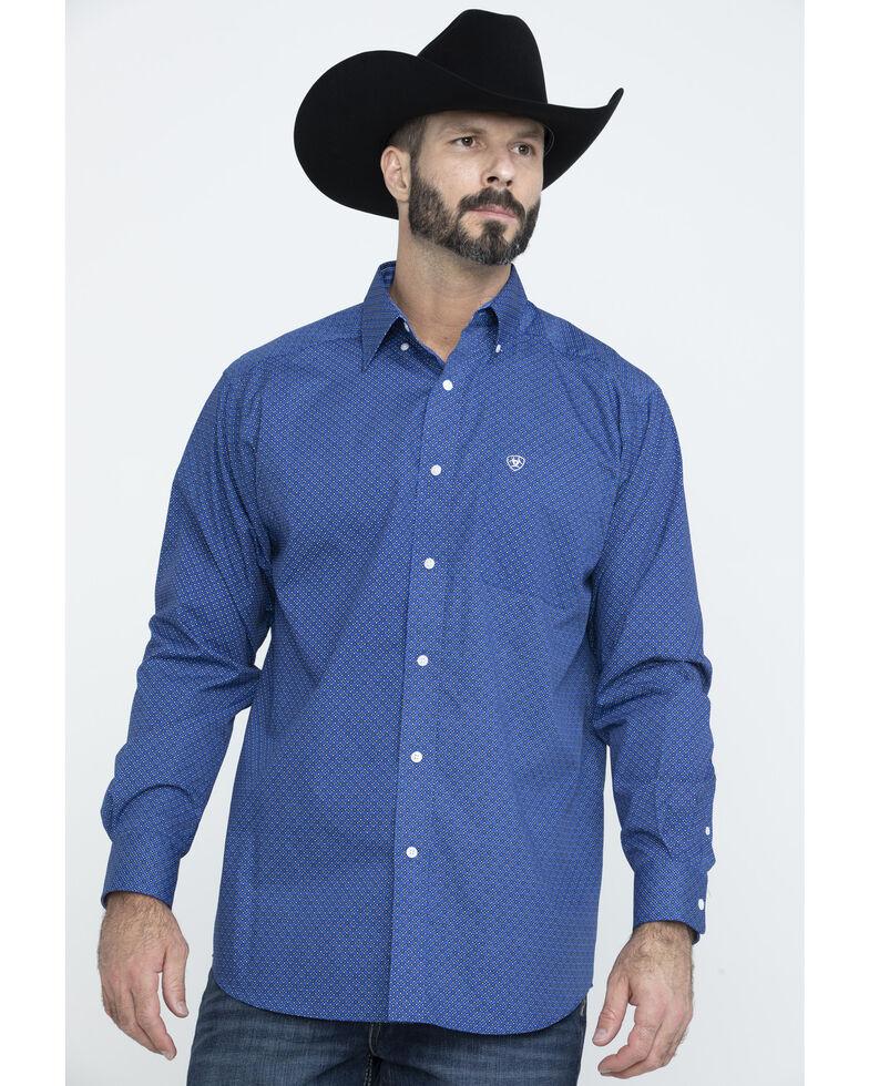 Ariat Men's Wrinkle Free Parton Geo Print Long Sleeve Western Shirt - Tall , Multi, hi-res