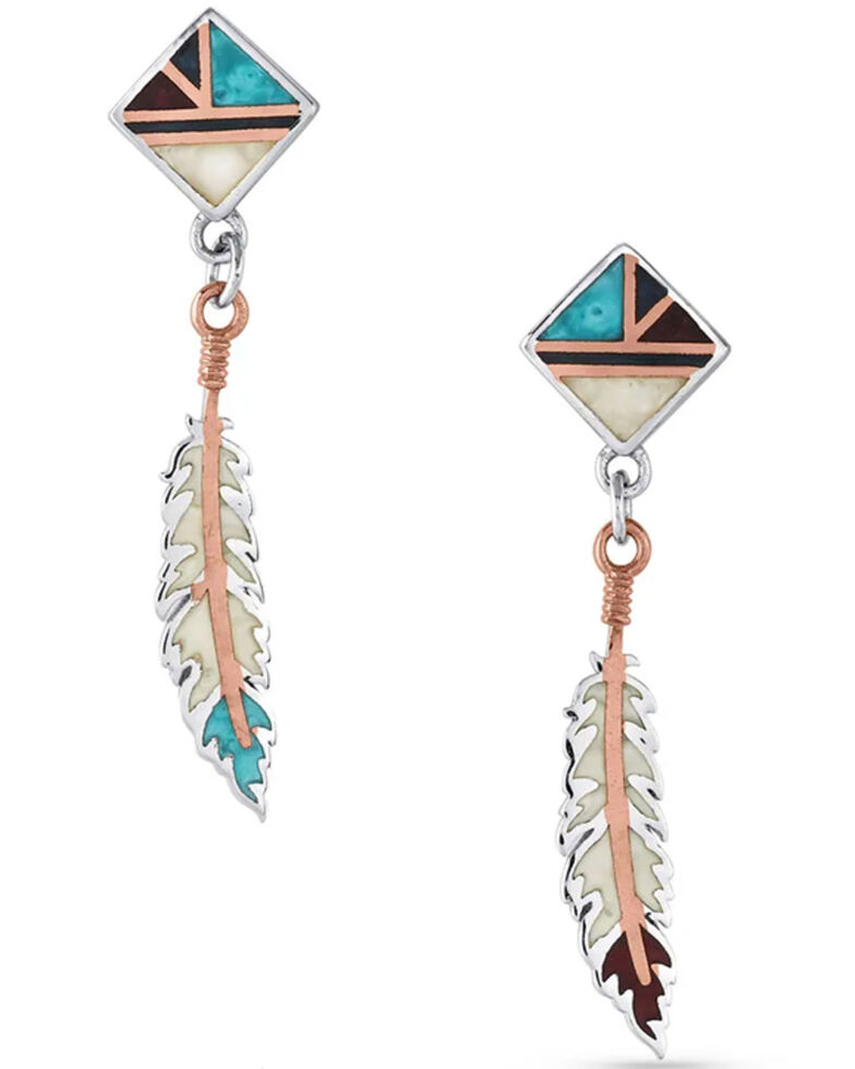 Montana Silversmiths Women's American Legends Feather Earrings, Silver, hi-res