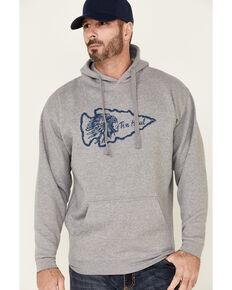 Tin Haul Men's Grey Native Arrowhead Graphic Hooded Sweatshirt , Grey, hi-res