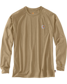 Carhartt Force Men's FR Long Sleeve Work T-Shirt, Beige/khaki, hi-res