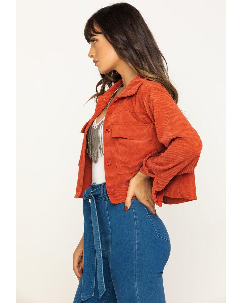 Eyeshadow Women's Rust Crop Jacket , Rust Copper, hi-res