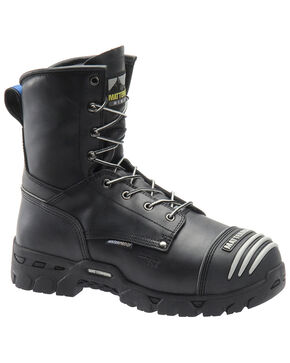 Matterhorn Men's Waterproof Lace-Up Work Boots - Composite Toe, Black, hi-res