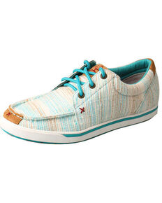 Twisted X Women's HOOey Loper Shoes - Moc Toe, Blue, hi-res