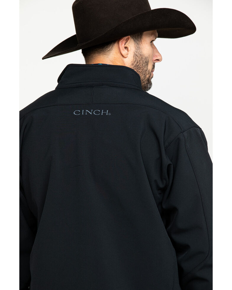 Cinch Men's Black Softshell Bonded Jacket, Black, hi-res