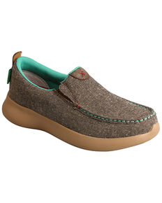Twisted X Women's REVA 12 Slip-On Shoes - Moc Toe, Lt Brown, hi-res