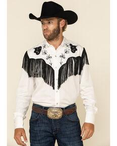 H Bar C Ranchwear Men's White Taos Long Sleeve Western Shirt , White, hi-res