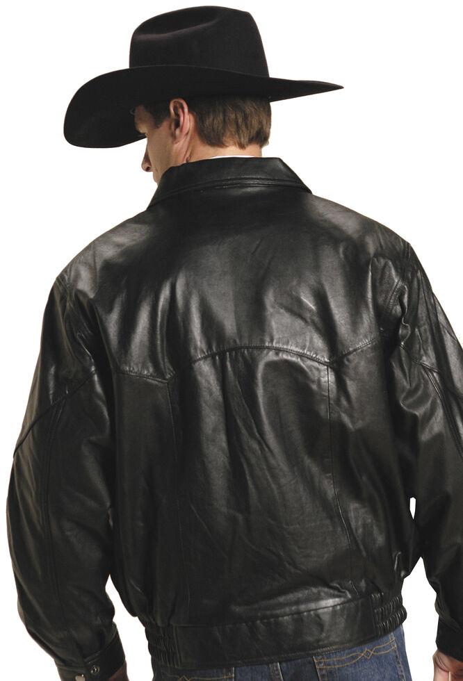 Roper Lamb Nappa Bomber Jacket - Big & Tall, Black, hi-res