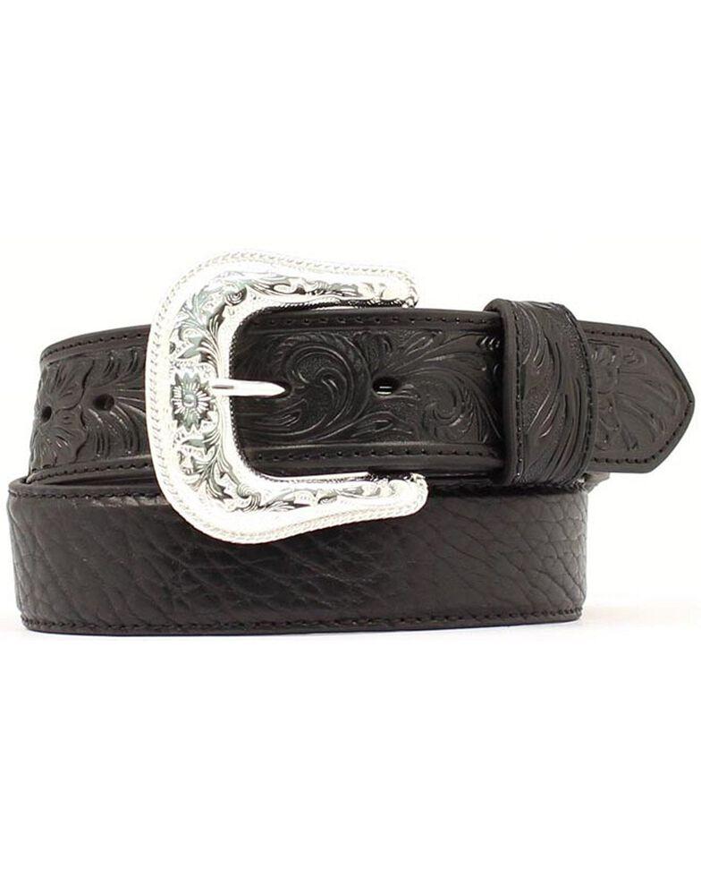 Nocona Bullhide & Tooled Leather Belt, Black, hi-res