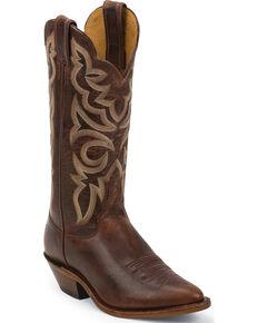 Justin Bent Rail Women's Utopia Cognac Cowgirl Boots - Round Toe, Cognac, hi-res