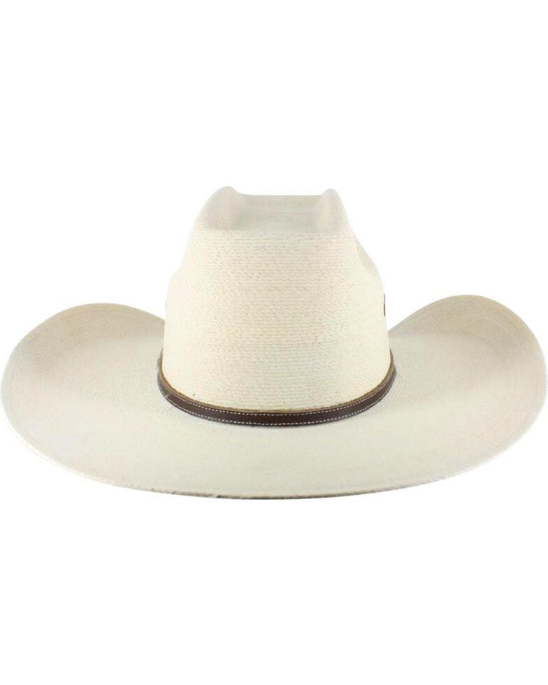 Atwood Men's 7X Kaycee Palm Leaf Straw Cowboy Hat, Natural, hi-res