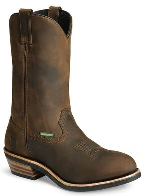Dan Post Albuquerque Waterproof Distressed Leather Western Work Boots, Distressed, hi-res