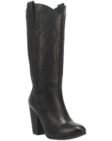 Code West Women's Kiki Western Boots - Round Toe, Black, hi-res