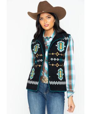 Outback Trading Co Women's Santa Fe Fleece Vest, Black, hi-res