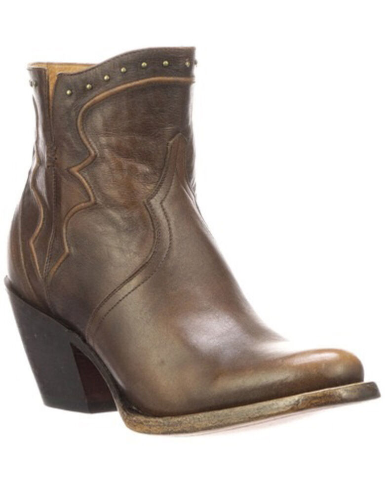 Lucchese Women's Karla Fashion Booties - Round Toe, Wheat, hi-res