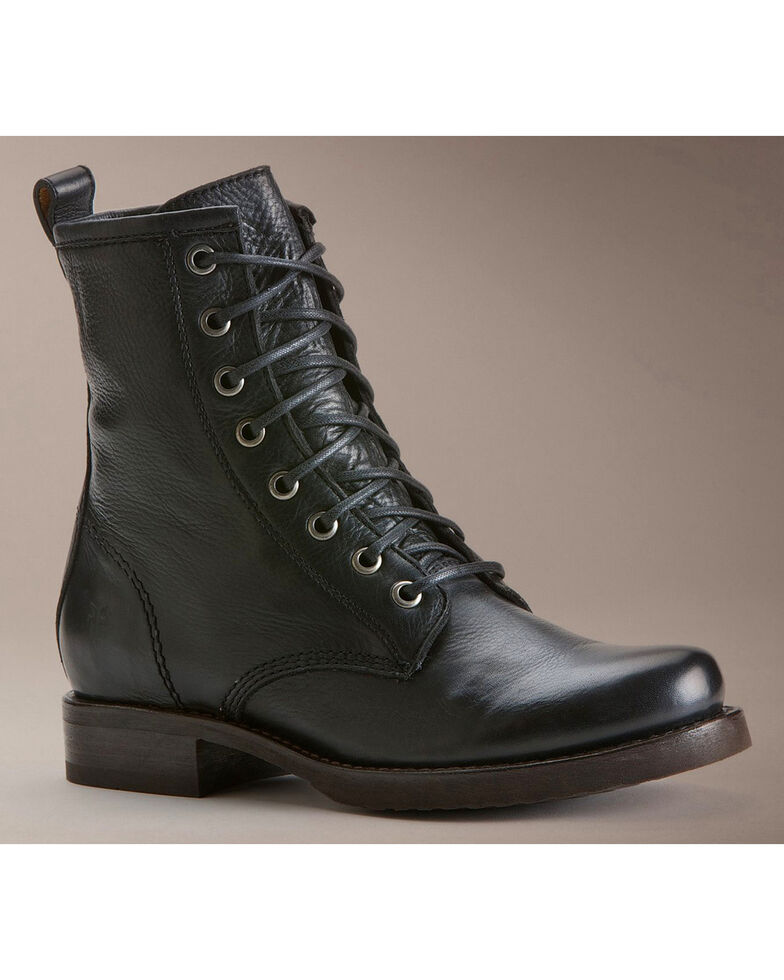 Frye Women s Veronica Combat Boots - Round Toe - Country Outfitter 10de1a17a