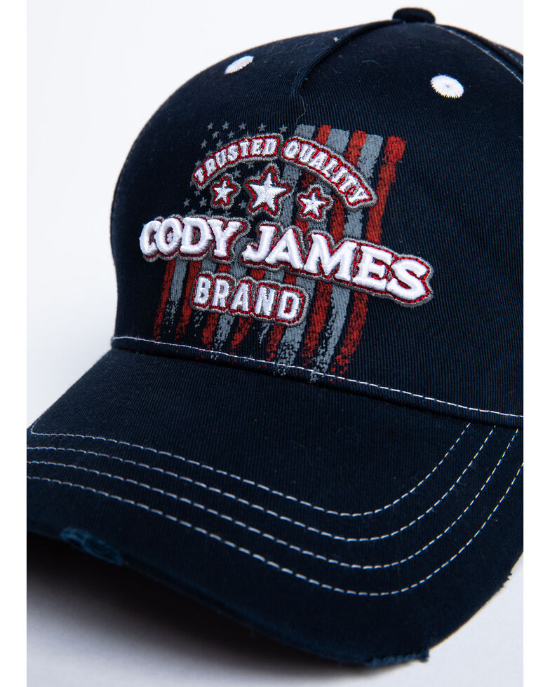 Cody James Men's Gradient Flag Ball Cap , Blue, hi-res