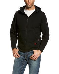 Ariat Men's Black FR Zip-Front Hooded Sweatshirt - Big , Black, hi-res