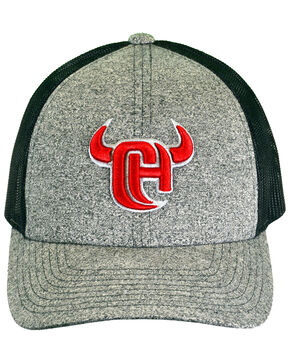 Cowboy Hardware Men's Grey 3D Logo Trucker Cap, Grey, hi-res