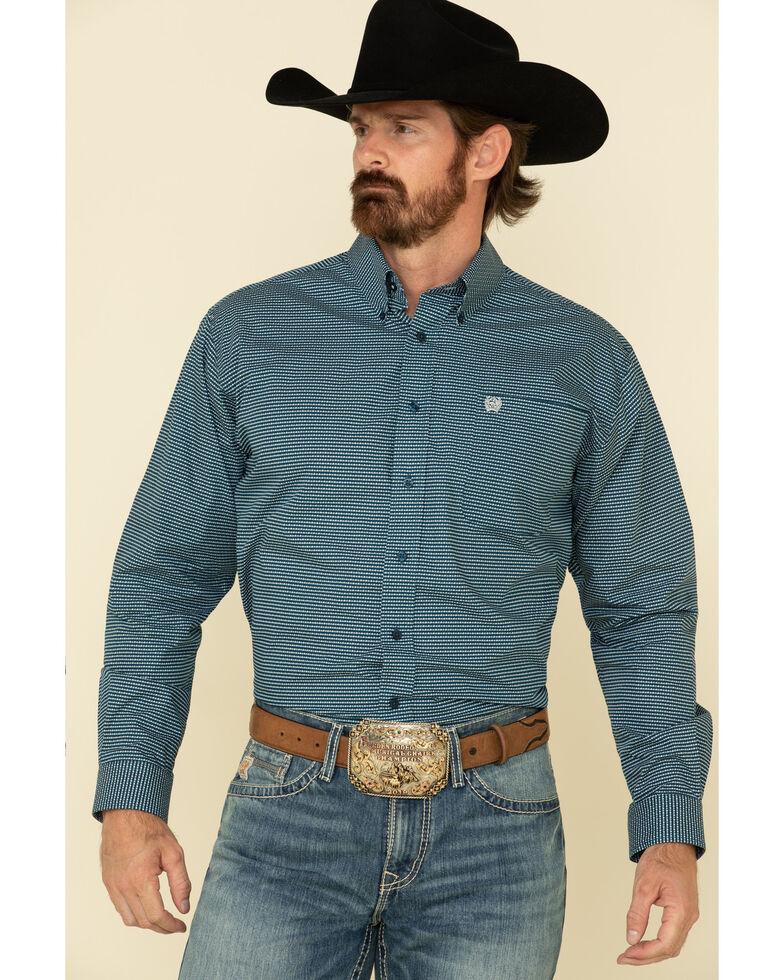 Cinch Men's Multi Mountain Geo Print Long Sleeve Western Shirt , Multi, hi-res