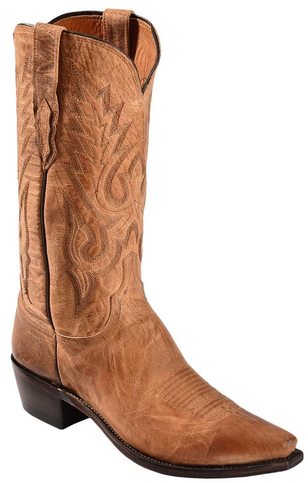 d8e03f29472 Lucchese Handmade 1883 Tan Mad Dog Goatskin Cowboy Boots - Snip Toe